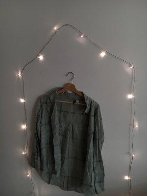 H&M Flannel Shirt pale blue