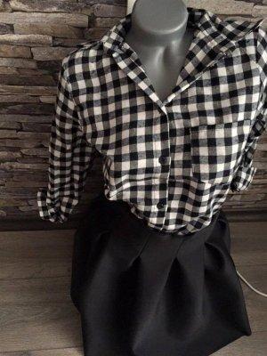 FLANELL Hemd schwarz / weiß