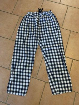 Pyjama wit-donkerblauw