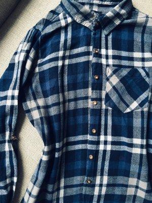 Atmosphere Flannel Shirt white-dark blue