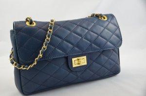 Bolsa de hombro azul oscuro Cuero