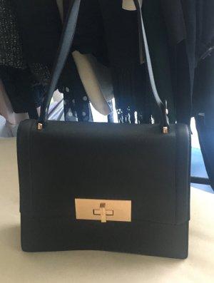 Flap Bag schwarz/gold