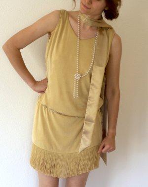 Flapper Girl 20er Jahre Golden Twenties -  Gatsby Halloween Komplett-Kostüm Fransen