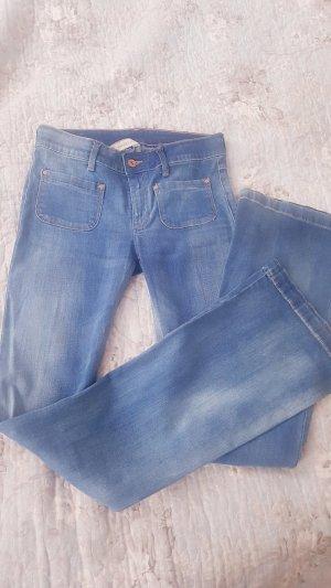 Mango Jeans flare bleu azur