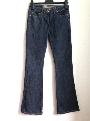 Flared Jeans von Yessica mit goldenen Details, Gr. 36, ungetragen