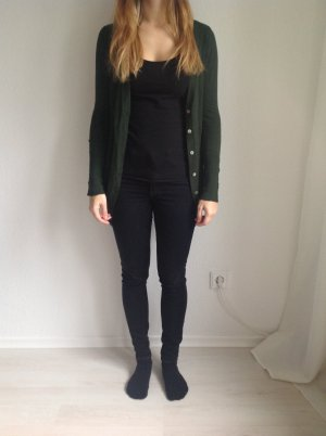 Zara Knitted Cardigan forest green