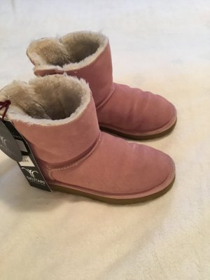 Snow Boots dusky pink-gold-colored