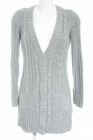 FlashLights Cardigan grau Lochstrickmuster Casual-Look