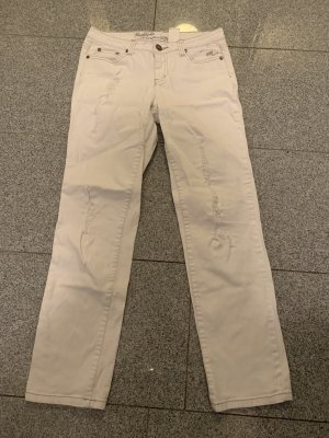 FlashLights Stretch jeans wit