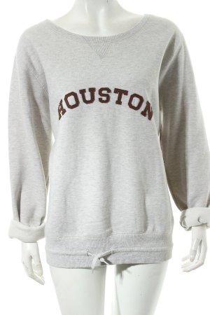 FlashLights Sweatshirt hellgrau-braun Casual-Look