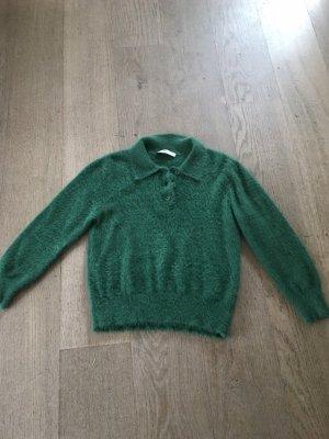 Zara Maglione lavorato a maglia verde bosco