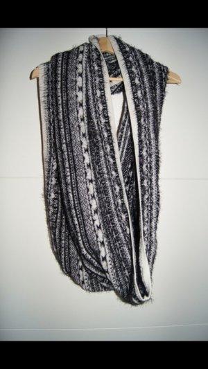 H&M Bufanda tubo negro-blanco