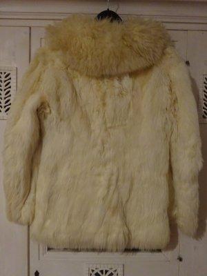 Veste de fourrure blanc-blanc cassé fourrure