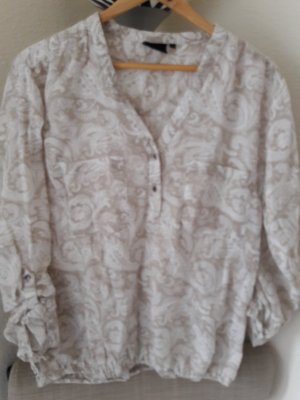Flauschige Baumwollbluse mit Paiselymuster