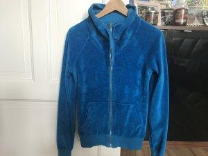 flauschige blaue Jacke Größe S 36 38 H&M Divided Zipper