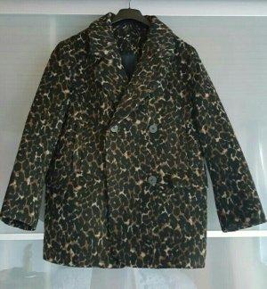 flauschige H&M Jacke mit Leopardenprint