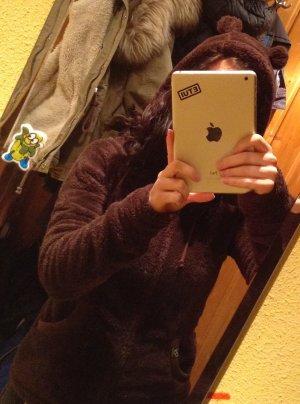 Flauschige Jacke mit Teddyohren