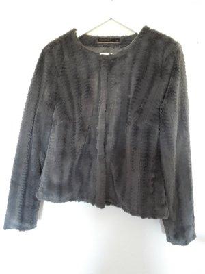 Soyaconcept Giacca di pelliccia grigio-argento Pelliccia ecologica