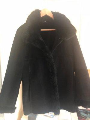 Women's Dress Concept Veste en fourrure noir