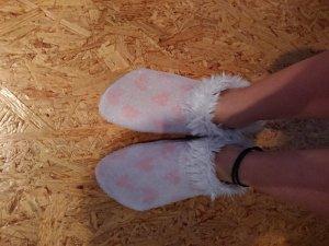 Hunkemöller Pantuflas blanco puro-rosa claro