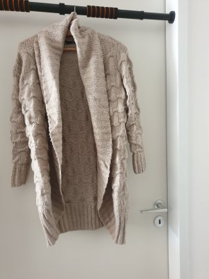 Only Knitted Coat grey brown-beige