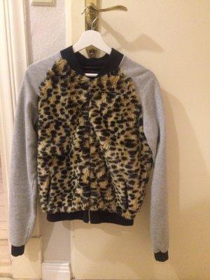 Flauschige Sweatshirt-Jacke mit Kunstfell von Blomor