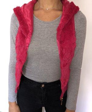 Tally Weijl Smanicato di pelliccia rosso lampone-rosa