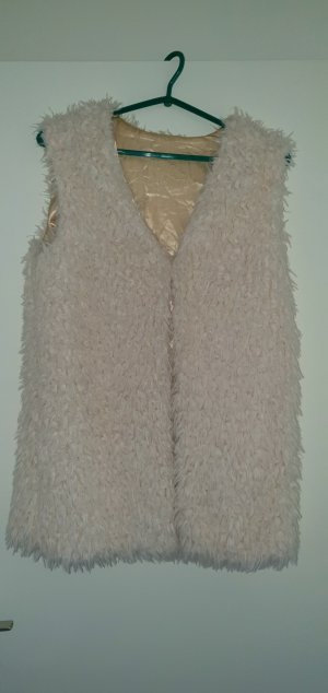 no name Fake Fur Vest natural white