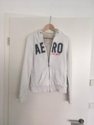 Aeropostale Hooded Sweater white cotton