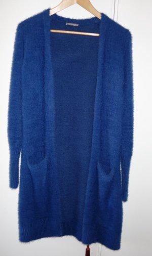 flauschiger Orsay Cardigan kobaltblau Gr. M (38) Lagenlook