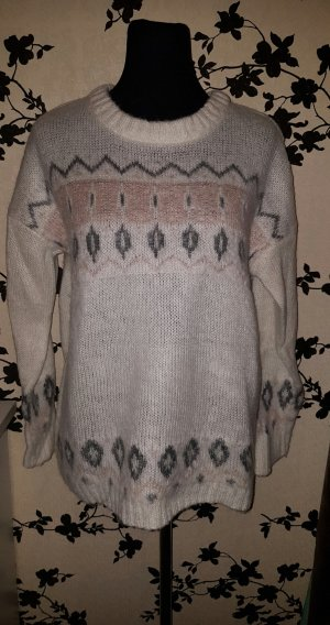 Flauschiger Pullover - Creme / Pastell - Oversize - Gr. L