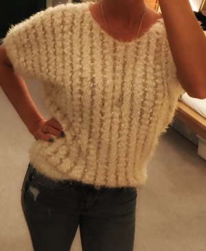 Apricot Coarse Knitted Sweater cream