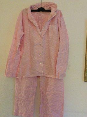 Flauschiger, rosaner Schlafanzug Größe 38, neu und ungetragen