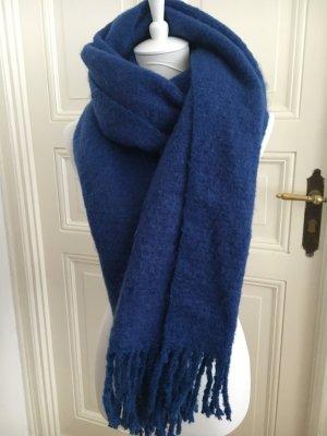 Wollen sjaal blauw-neon blauw Polyester