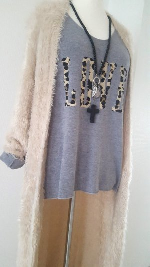 flauschiger Strickmantel#Cardigan#Free People#Gr. L