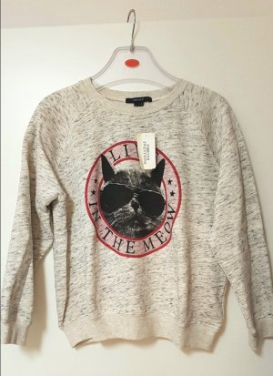 Flauschiger Sweater mit Katzen Motiv Gr.M