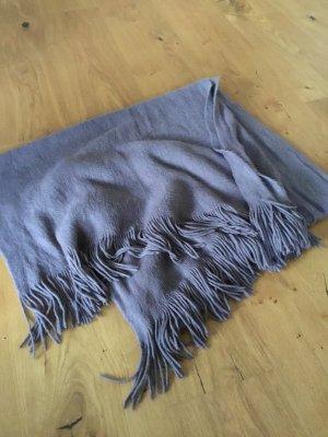 H&M Bufanda de flecos marrón grisáceo
