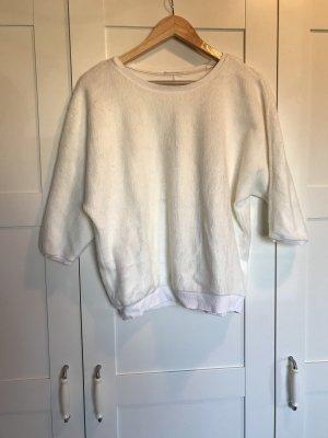 Opus Short Sleeve Sweater natural white-white polyacrylic