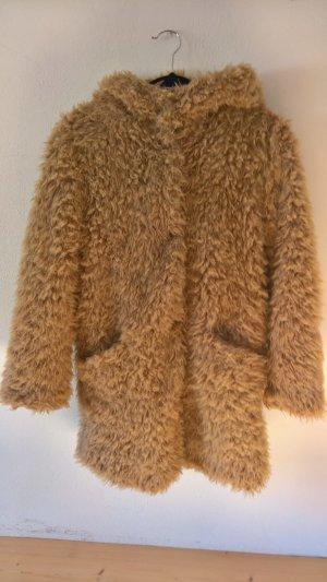 Zara Giacca di pelliccia color cammello