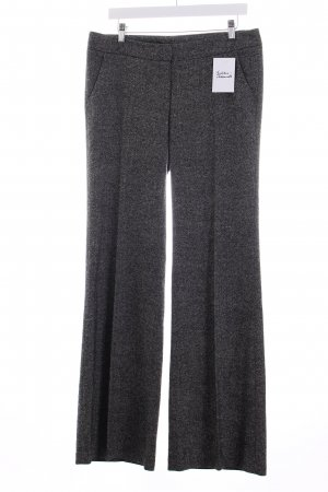 Flavio Castellani Woolen Trousers black-white weave pattern classic style
