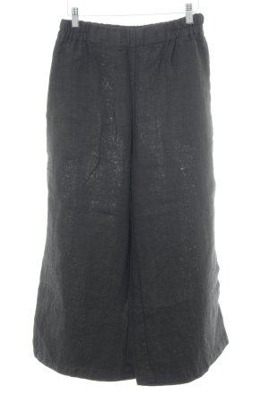 Flaxxxs Pantalone di lino marrone scuro stile Gypsy