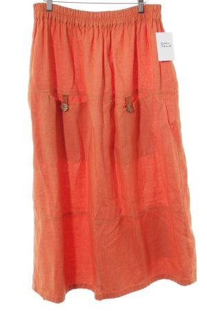 Flaxxxs Maxi rok oranje casual uitstraling