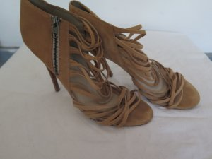 Aldo Strapped High-Heeled Sandals sand brown