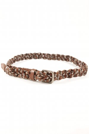 Braided Belt brown-silver-colored country style