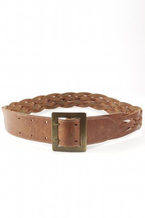 Braided Belt cognac-coloured casual look