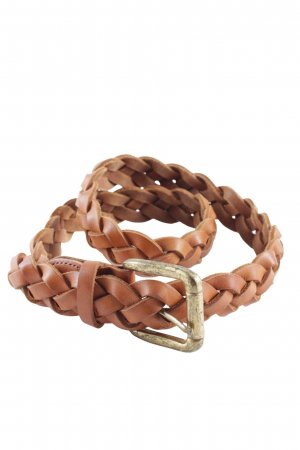 Braided Belt cognac-coloured-gold-colored casual look