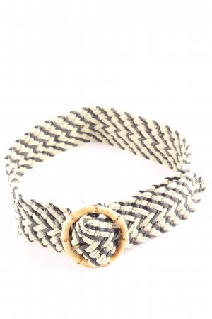 Braided Belt cream-black retro look