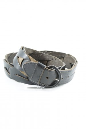 Braided Belt dark brown casual look