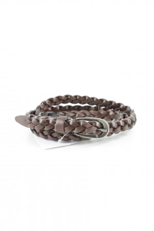 Braided Belt dark brown cable stitch casual look