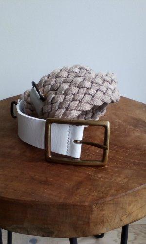 Braided Belt white-oatmeal